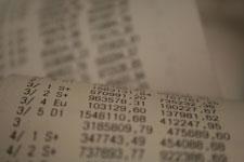 Close-up of receipt paper